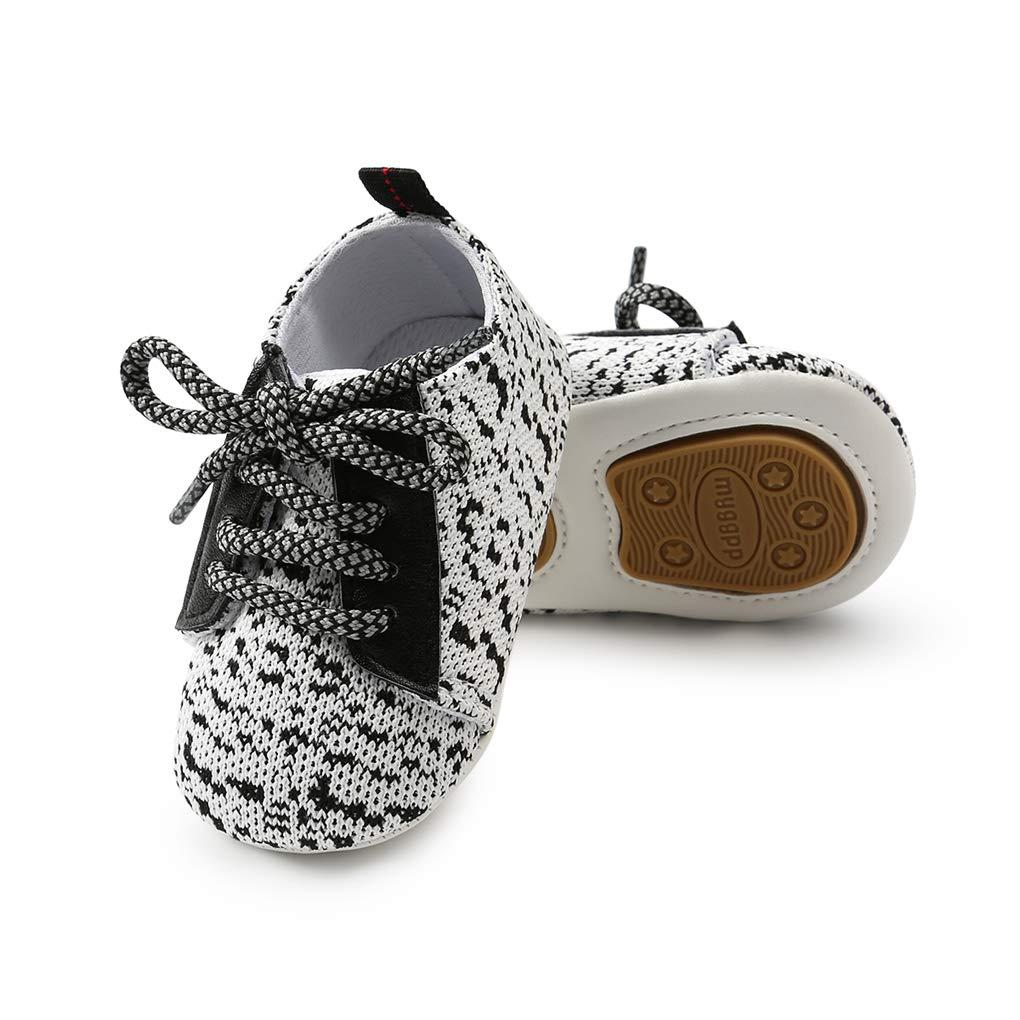 lakiolins Baby Boy Girl Slip-on Sock-Like Woven Sneakers Anti-Slip First Walkers Crib Shoe
