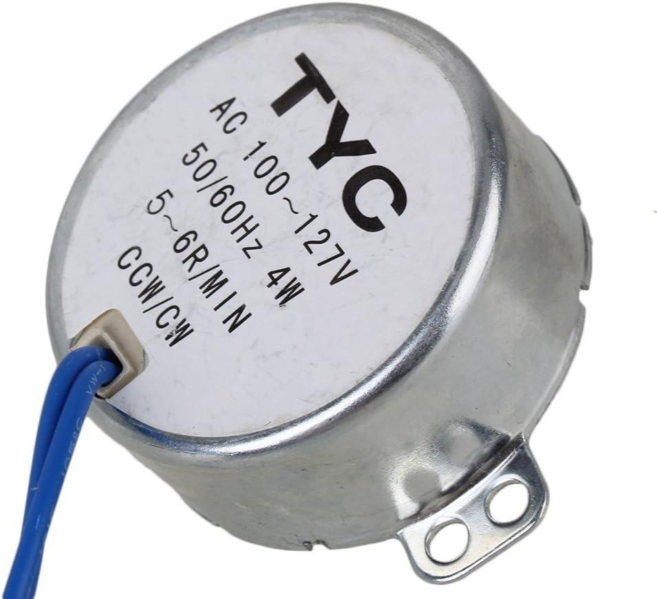 CW//CCW TYC-50 AC 110V Synchronous Motor 15-18RPM 4W Torque 1.5Kgf.cm 10mm Shaft