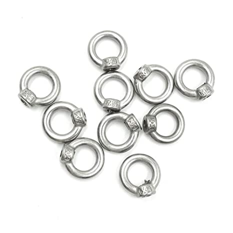 1pc HONJIE M12 x 80mm 304 Stainless Steel Ring Lifting Expansion Eyebolt Bolt Screw With Ring
