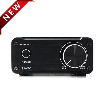 SMSL SA-50 T-AMP SA50 2 x 50 W Amplificador Digital Clase D Plata