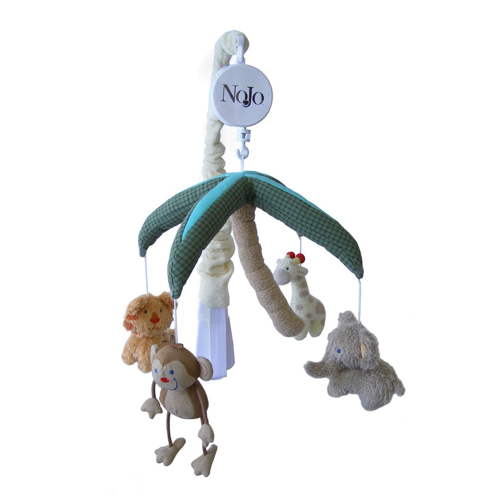 NoJo Jungle Babies Musical Mobile Crown Craft Infant Products 3544079