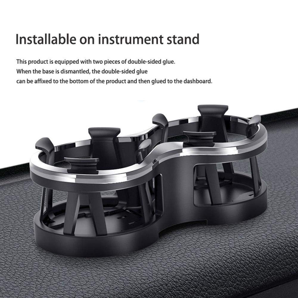 Base Adjustment Car Cup Holder Expander for Car Console Drinking Bracket Stick on The Instrument Panel Water Bottle Car Cup Holder Flexible Cup Holder Volwco Car Cup Holder with Detachable
