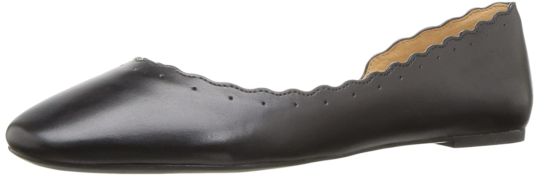 Nine West Women's Mai Leather Ballet Flat B06WW9124V 7 B(M) US|Black