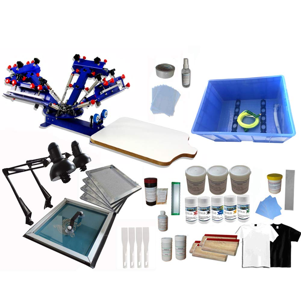 Amazon 4 Color 1 Station T Shirt Printing Kit B