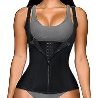 $21 » Women Waist Trainer Corset, Zipper Vest Body Shaper Cincher, Shapewear Slimming Sports…