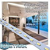 Aluminum LED Solid Strips - Interior Design Lighting - Natural Light - 4300K - 5 Sets (5M/16.4FT)