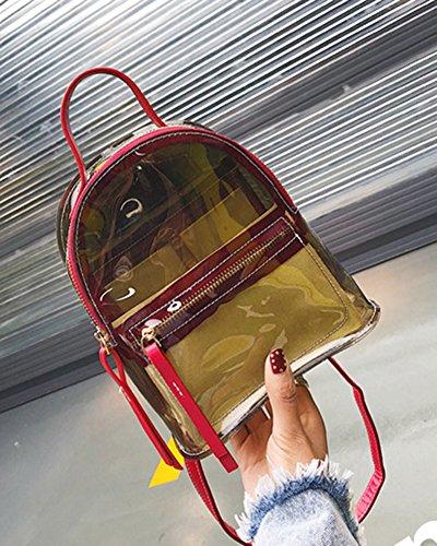 Plastique De Femme Main Sac en Dos À Trans Imperméable À À Bandoulière Fourre Noir Plage Transparent Sac Sac Sac 66FZzxwqrE