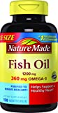Nature Made Fish Oil 1200 mg w. Omega-3 360 mg Softgels Value Size 150 Ct
