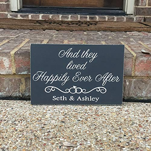 Amazon com: Zora Camp Engagment Gift Wedding Aisle Sign Happily Ever