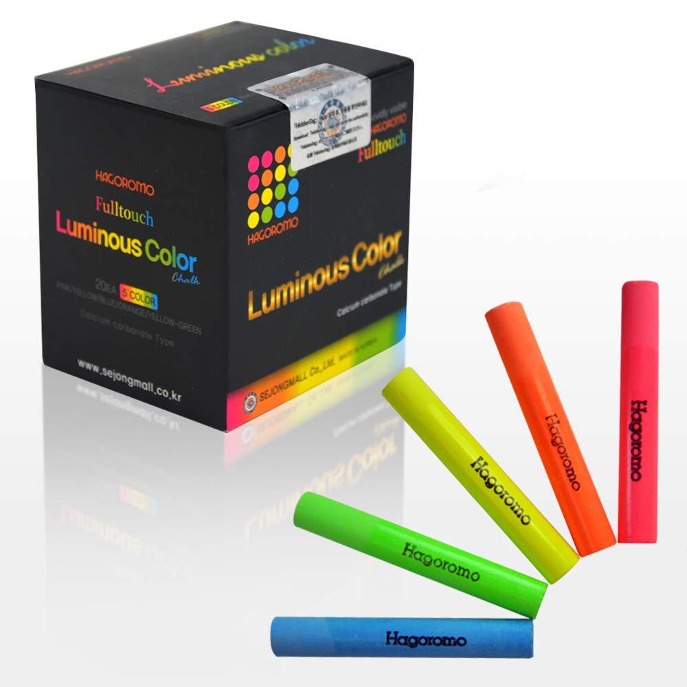 Hagoromo FULLTOUCH luminoso 5 colori Mix gesso 1Box (20pz) multicolore SEJONGMALL Co. Ltd