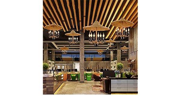 Vintage de bambú chino de cáñamo gorras araña (vender como pan caliente): Amazon.es: Iluminación