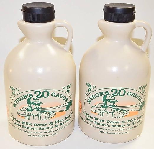 Myrons 20-gauge Wild Game & Fish Sauce 2/32 Oz Jugs