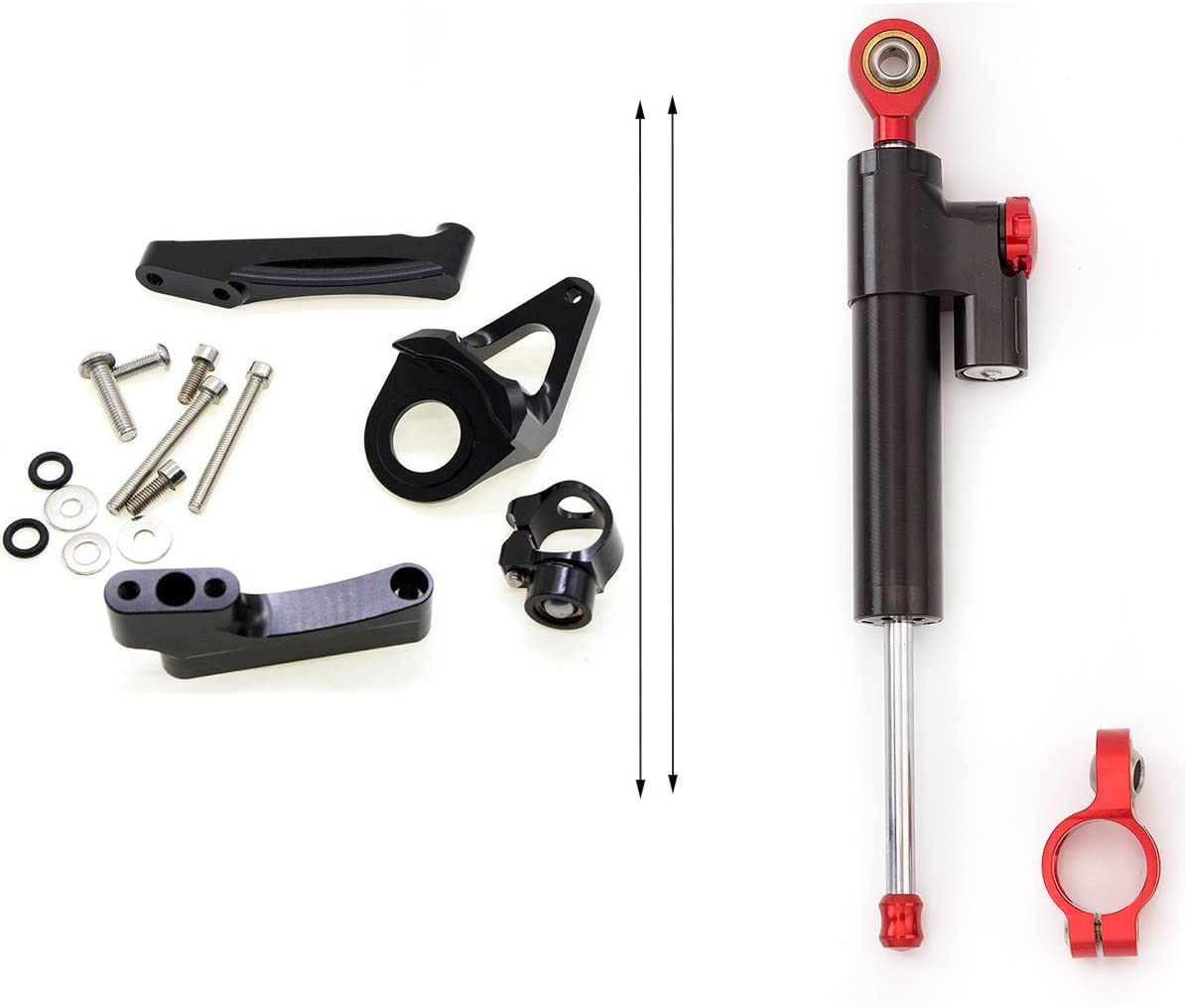 FXCNC Racing Motorcycle CNC Steering Damper Stabilizer Buffer Control Bar With Mounting Bracket Kit Full Set Fit For Suzuki Hayabusa GSXR1300 1998-2016