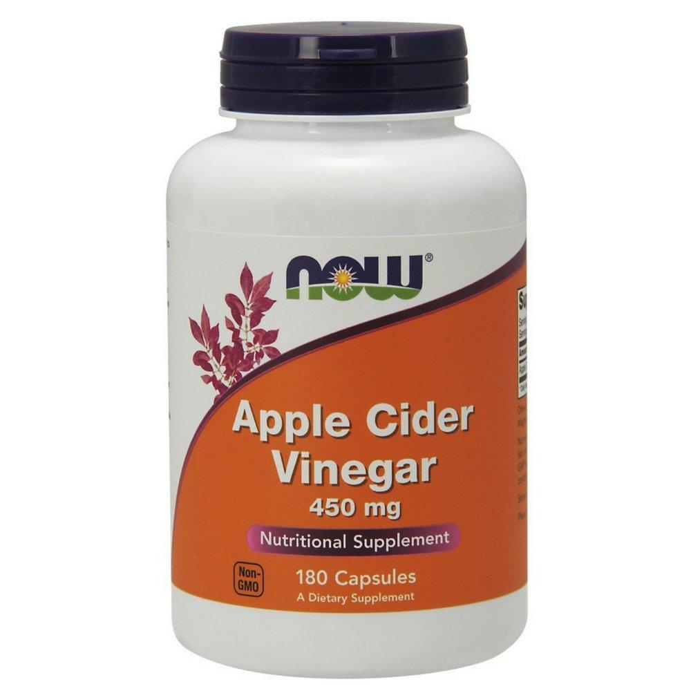 NOW Apple Cider Vinegar 450 mg,180 Capsules