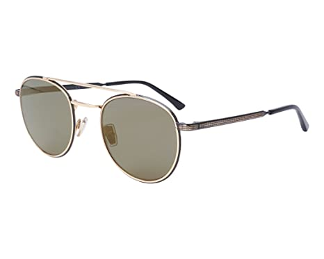 05e3e54359a04 Image Unavailable. Image not available for. Color  Jimmy Choo Dave 2M2 K1  Black Gold Metal Round Sunglasses Gold Mirror Lens