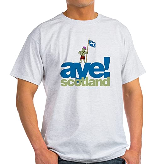 0e52b6ab Amazon.com: CafePress Aye Scotland Light T-Shirt Cotton T-Shirt ...