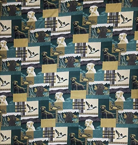 Hunting Dogs Allover Fleece Fabric - 60