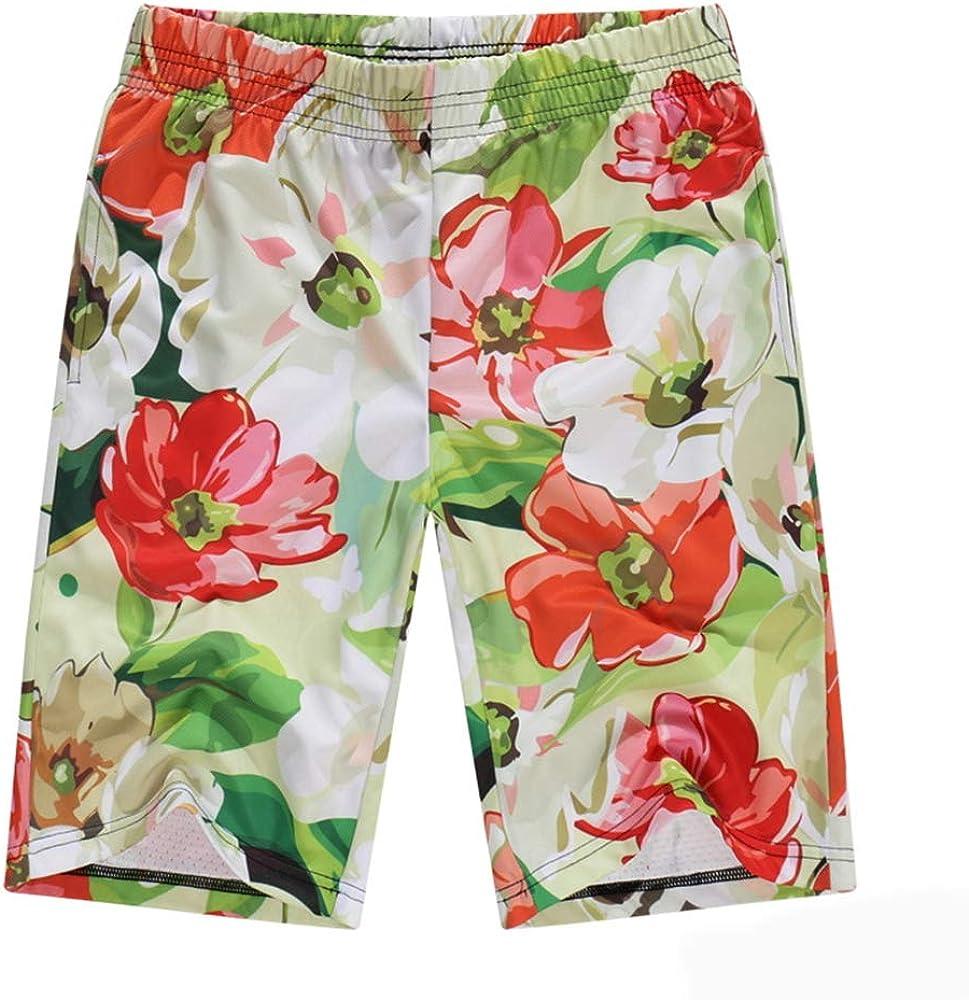 Tqzx Beach Pants Mens Summer Printing Quick-Drying Shorts Breathable