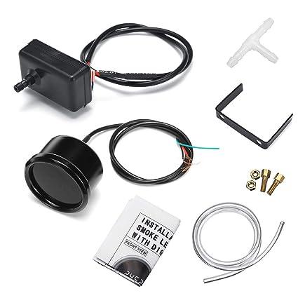 Gift-4Car - 2inch 52mm -14-30 PSI Turbo Boost Gauge Digital LED Display Black Face Car Meter with Sensor 12V - - Amazon.com