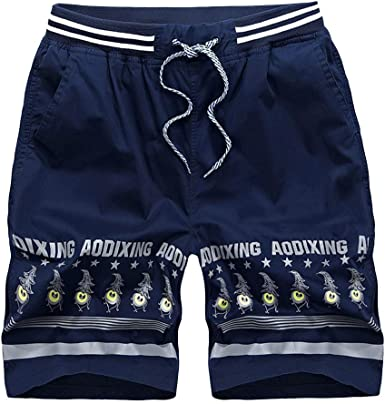 Palarn Sports Pants Casual Cargo Shorts Men Spring Summer Print Trunks Quick Dry Beach Surfing Running Short Pant