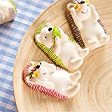 Creativee Kids Wall-mounted Toothbrush Holder (3PCs-hedgehogs)