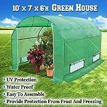 BenefitUSA GH055 Larger Walk Canopy Gazebo Outdoor Gardening Greenhouse, 10'x7'x6' , Green