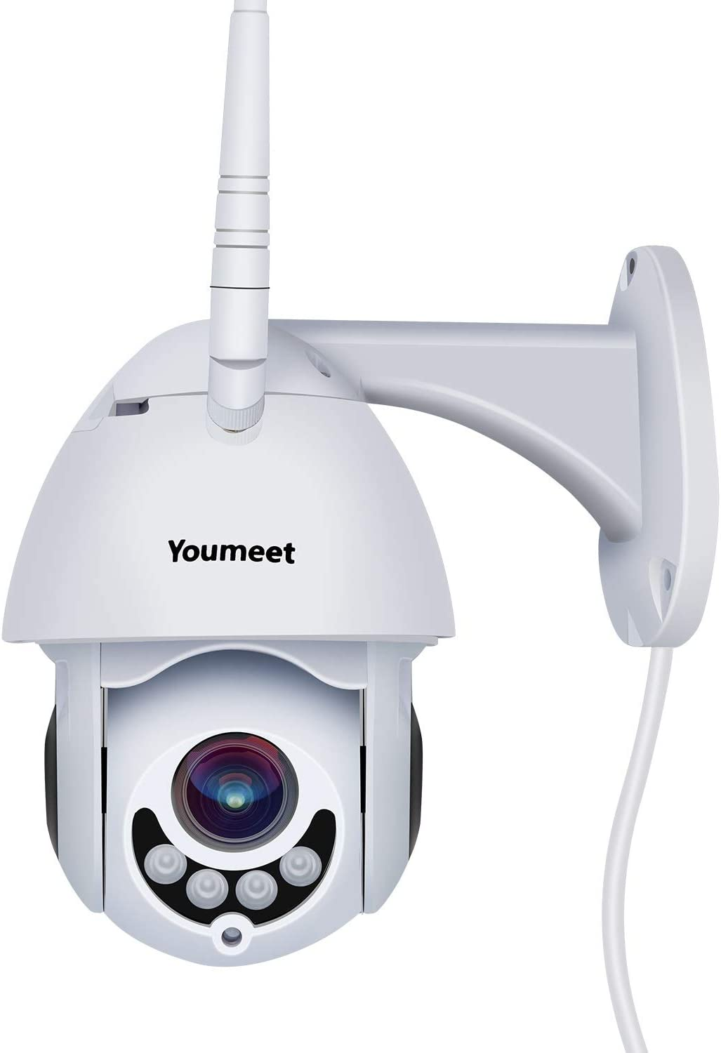 WiFi IP Security Camera,Youmeet 1080P Home Surveillance Cameras,WiFi and Wired Connection,Outdoor camera with Night Vision, 2 Way Audio, Motion Sound Detection, SD Card Included, Works on Smart Phones