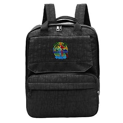 LU-4EVER Women I'm On Island Time Oxford Cloth Lightweight Baseball Gift Backpack Black well-wreapped