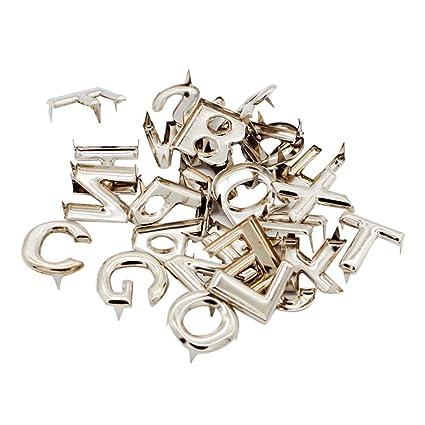 3ed876260d IPOTCH Commercio all'Ingrosso 208pcs Metallo Lettera Rivetti Borchie di  Fissaggio per Borsa da Cintura