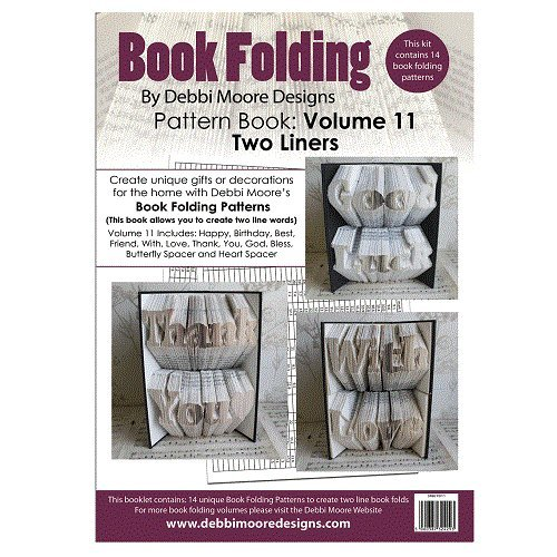 Debbi Moore Book Folding Pattern Book Volume 11 (Two Liners) God Bless With Love Debbi Moore Designs
