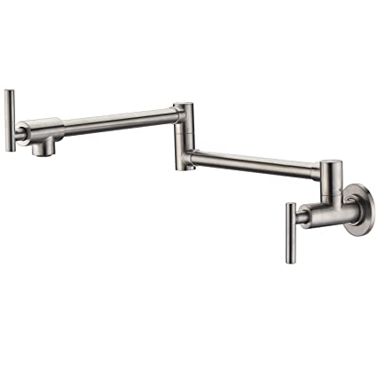 Sumerain Pot Filler Faucet Wall Mount Brushed Nickel Finish and
