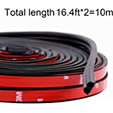 Funlove 32Ft Universal Car Weather Stripping Self Adhesive Automotive Door Rubber Weather Draft Seal Strip for Car…