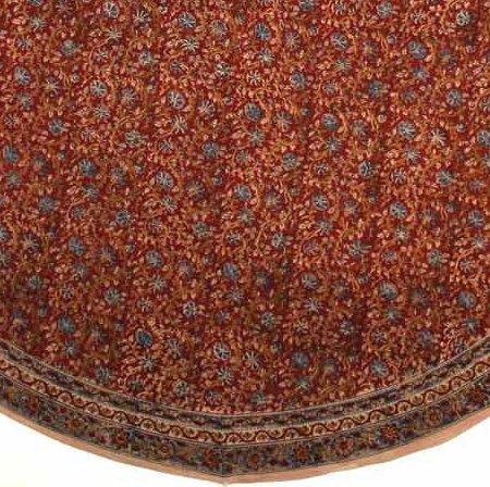 Floral Tablecloth Block Print 100% Cotton Vegetable Dye 72