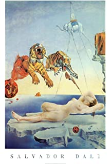 garden of earthly delights poster. Salvador Dali Dream Caused By The Flight Of A Bee Second Before Awakening Art Print Garden Earthly Delights Poster
