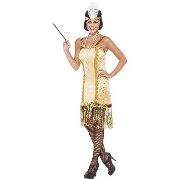 Vestido dorado de Charlestón años 20 con flecos carnaval ...
