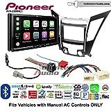 Volunteer Audio Pioneer AVH-2300NEX Double Din Radio Install Kit with Apple CarPlay Android Auto Bluetooth Fits 2011-2013 Hyundai Sonata