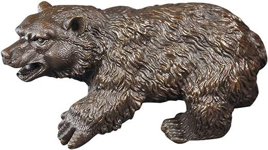 FENGJIAREN Estatuas,Estatuillas,Esculturas,Tamaño De La Vida Al Aire Libre En El Jardín De Vida Silvestre De Latón Bronce Grizzly Bear Estatua: Amazon.es: Hogar