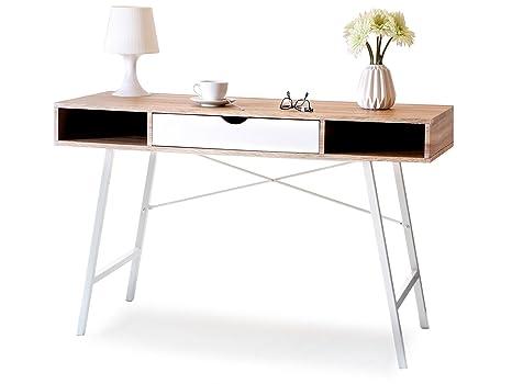 Lagertha bureau moderne en style scandinave chêne sonoma mat