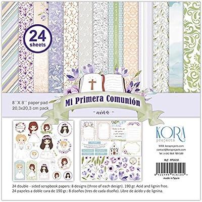 Pack de 24 papeles - Mi Primera Comunión - niña (8