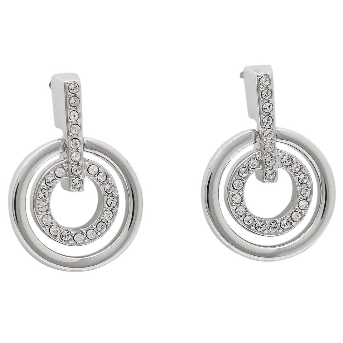 スワロフスキー ピアス アクセサリー レディース SWAROVSKI 5007750 Circle Crystal Pierced Earrings シルバー [並行輸入品] B00ZBZDS1M