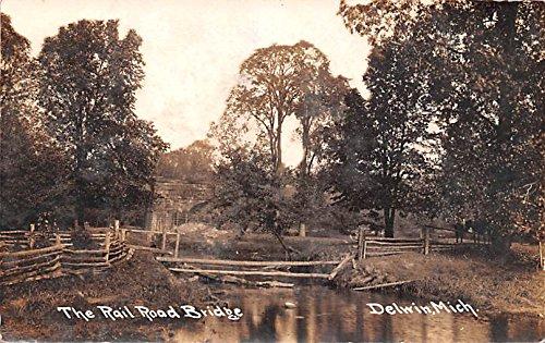 The Rail Road Bridge Delwin, Michigan postcard