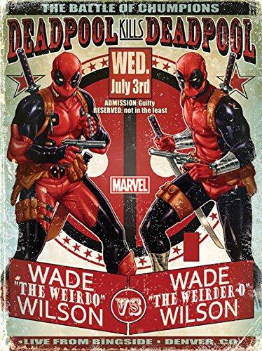Bastidor Montado CuadroLienzo Sobre Deadpool Wade 1art1® Vs vm8n0Nw