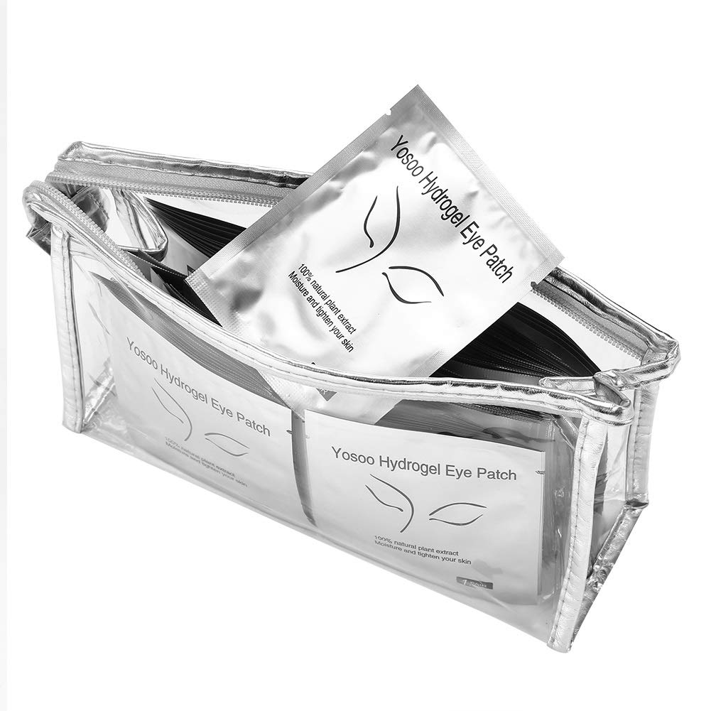 Eye Gel Patch - 100 Pairs Of Thickened Hydrogels With Mesh, Eyelash Extension Under The Eye Gel Patch Cotton Pad OKBY