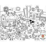 Prince Lionheart Color & Draw Reusable Placemat, Zoo