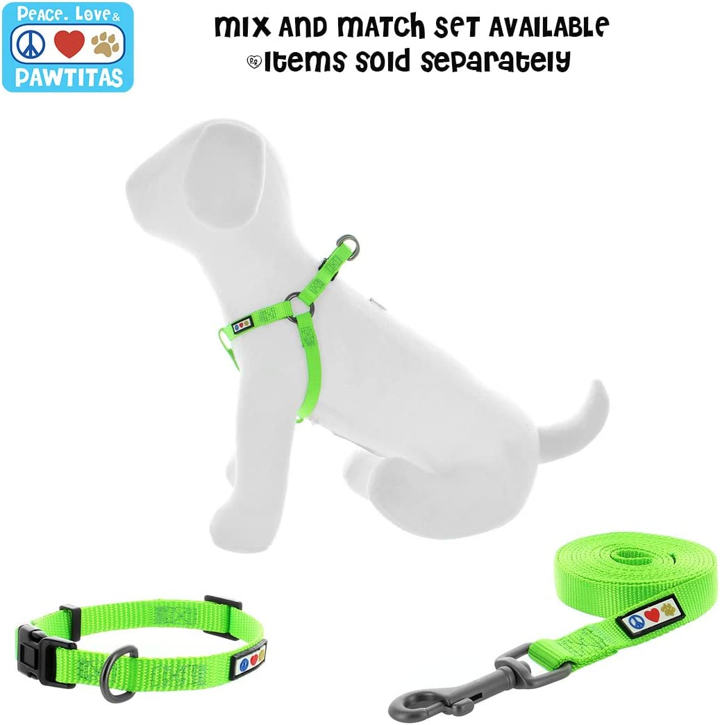 PAWTITAS Dog Lead is a Lightweight Strong lead for Daily Walk and Training Lead for dogs and Puppy 6 ft length Solid Color Dog Lead with 1.80 M Extra Small//Small Dog Leash Green