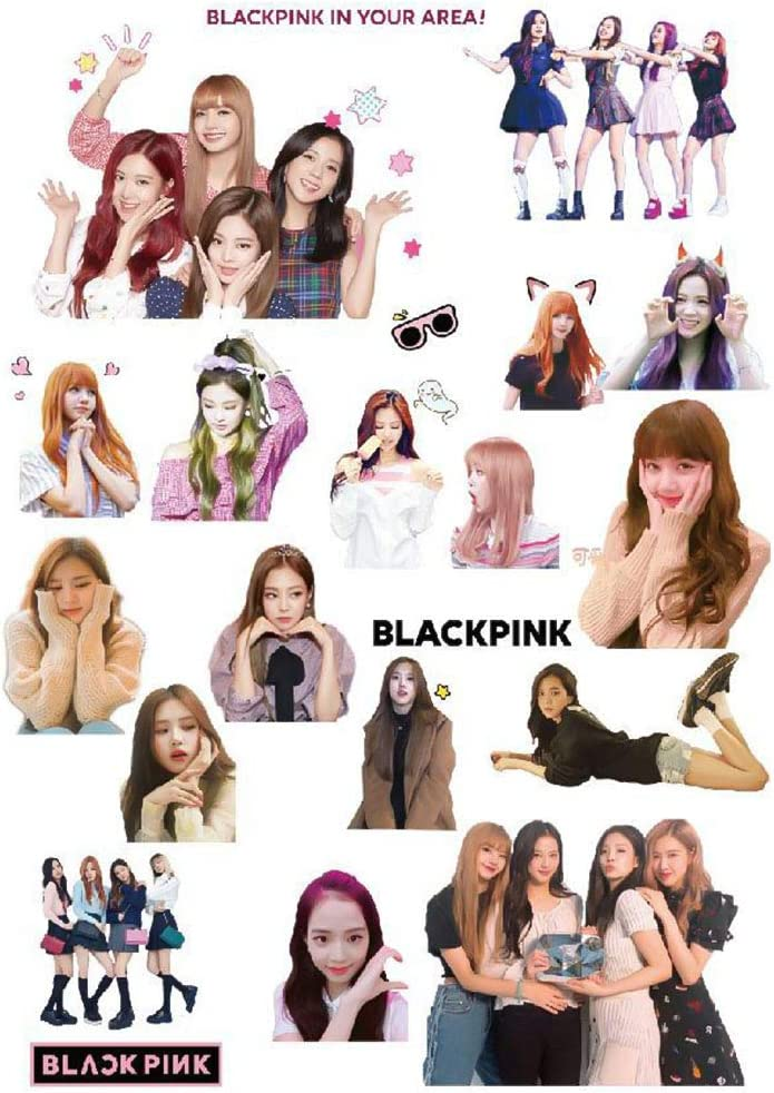Amazon Com Opopark Hot Kpop Blackpink Diy Phone Laptop Stickers Suitcase Case Laptop Skateboard Stickers Decal Toys Gifts Home Kitchen