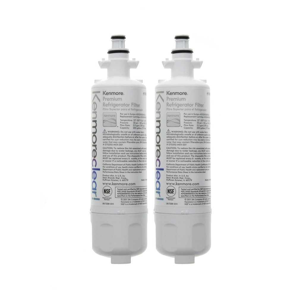Kenmore 9690 Refrigerator Water Filter, Clear, 2-Pack by Kenmore