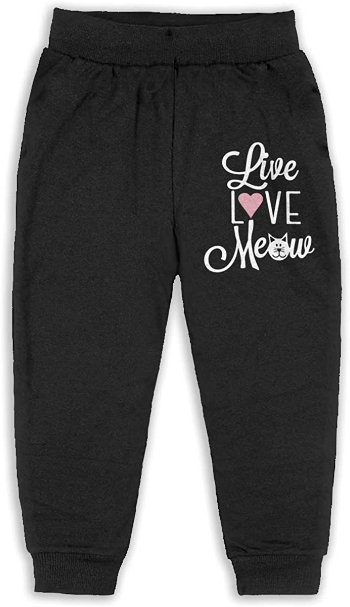 ELCW37K Kids /& Toddler Pants Soft Cozy Baby Sweatpants Swedish Flag Peace Sign Symbol Fleece Pants Jogger Pants