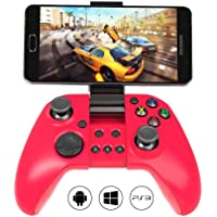 MYGT C04 Wireless Bluetooth Gamepad Controller for PC, Android and PS3 (Red)