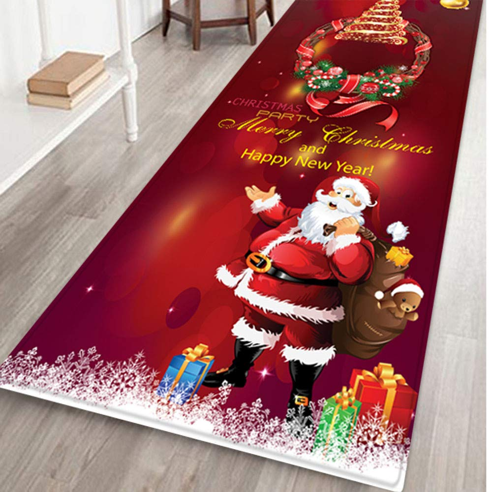 AMhomely Christmas Decorations Sale, Merry Christmas Welcome Doormats Indoor Home Carpets Decor 40x120CM Merry Christmas…
